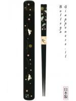 Hashi bacchette con custodia set usagi nero
