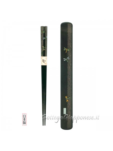 Hashi bacchette con custodia set libellula