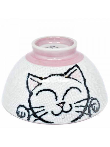 Ciotola con disegno di gatto dispettoso (11,5x6cm)