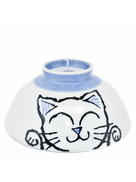 Ciotola con disegno di gatto dispettoso (14x6,3cm)
