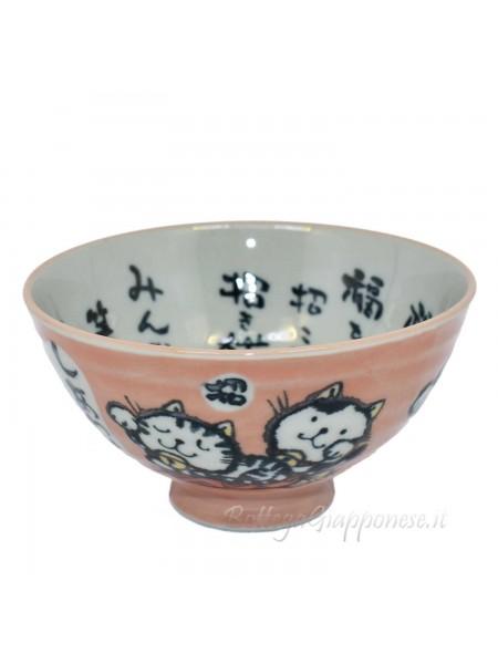 Ciotola con disegno di maneki neko fortuna (11,5x6cm) r
