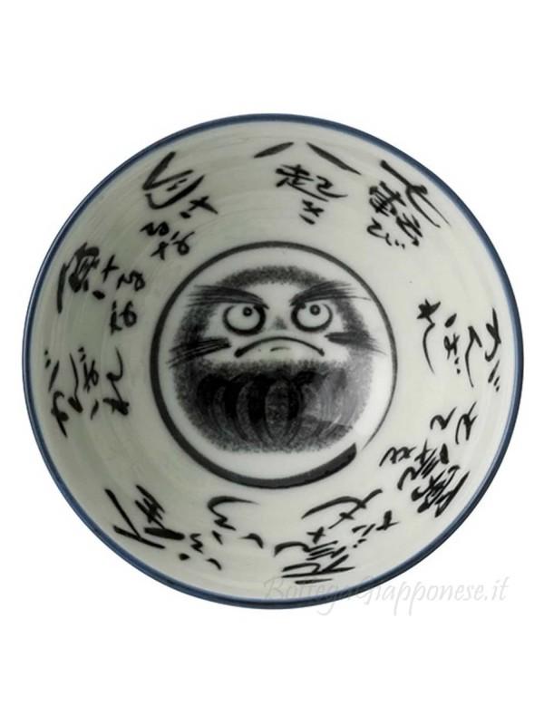 Ciotola con disegno di daruma (14,2x6,3cm)