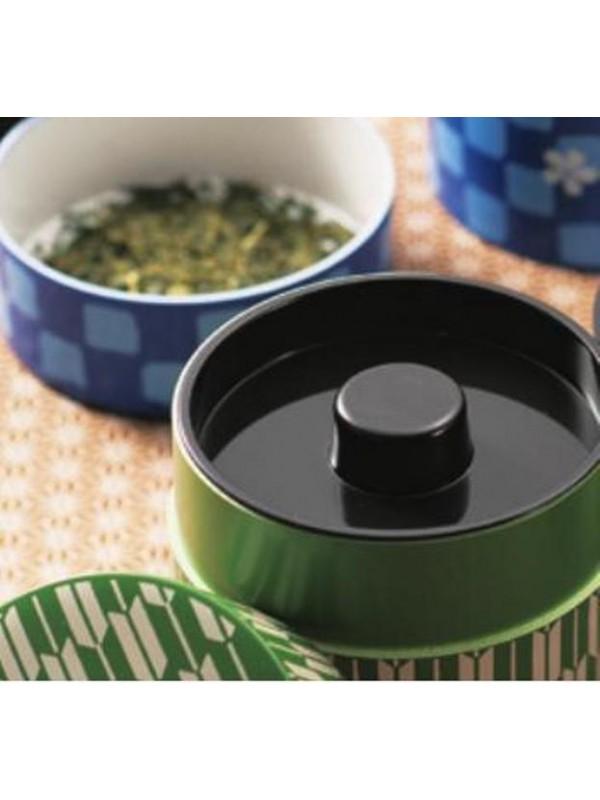 Box contenitore tè con disegno camelia