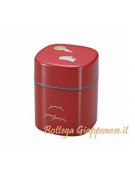 Box contenitore tè con disegno luna e coniglio(R)
