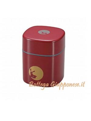 Box contenitore tè moon rosso