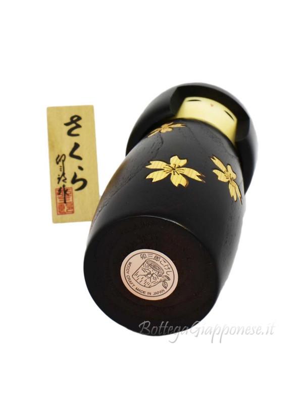 Kokeshi Zogan sakura intarsiati 19cm