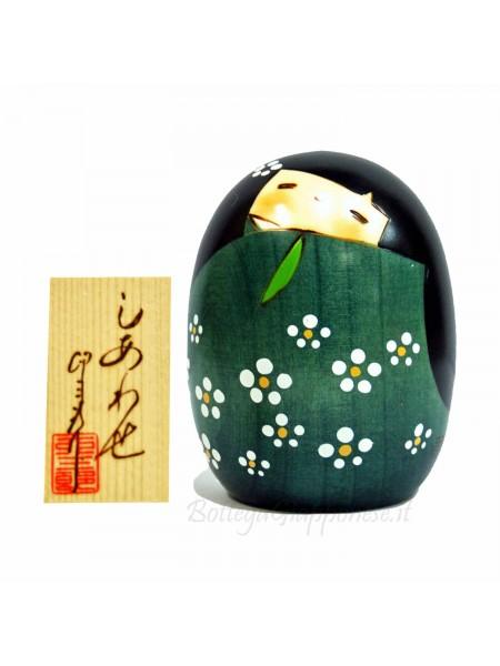 Kokeshi Shiawase felicità (L) Verde