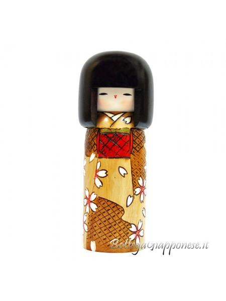 Kokeshi Haru no iro artigianale