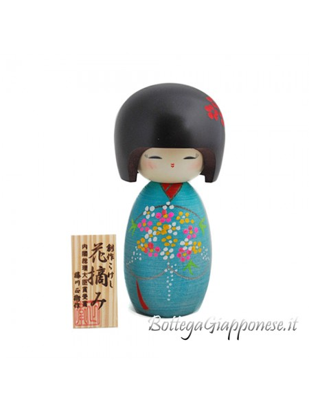 Kokeshi Hanatsumi made in japan