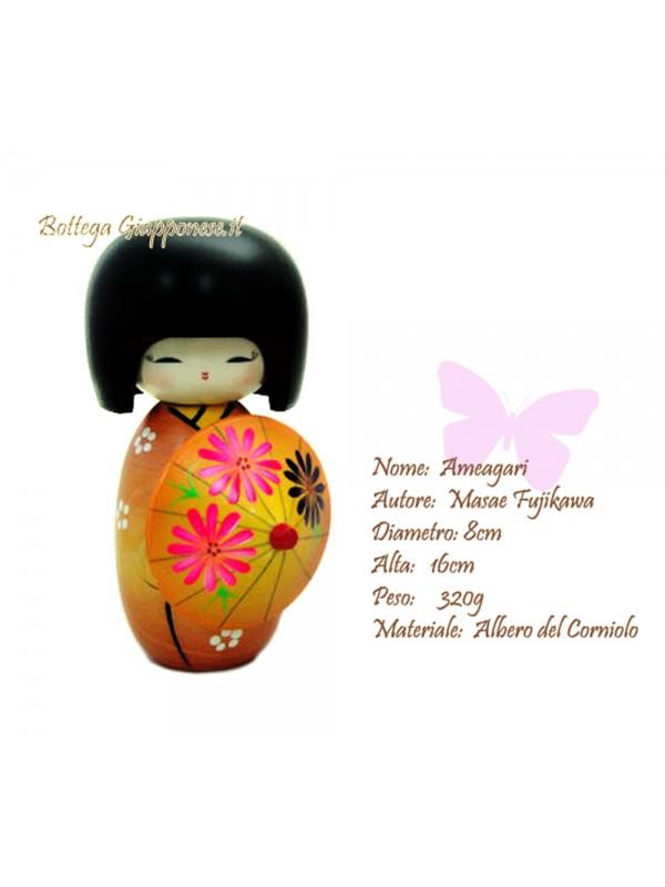 Kokeshi Ameagari artigianale