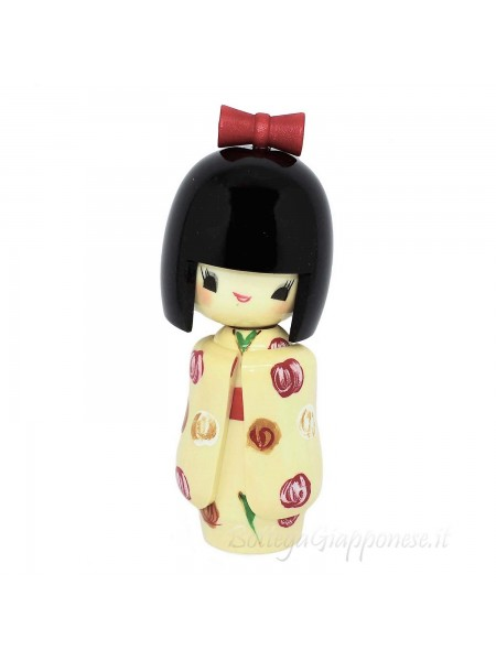 Kokeshi Otomesode bambola con furisode bianco