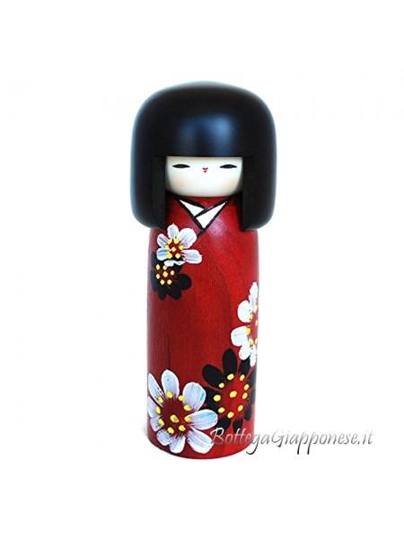 Kokeshi Hanaguruma artigianale