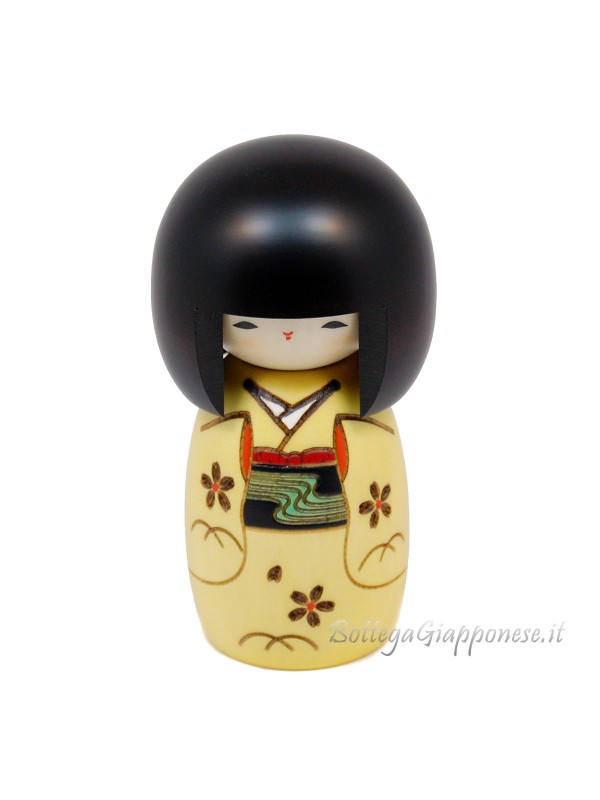 Kokeshi Osanago in legno artigianale