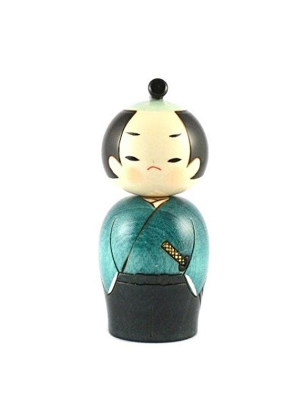 Kokeshi Samurai kimono e katana