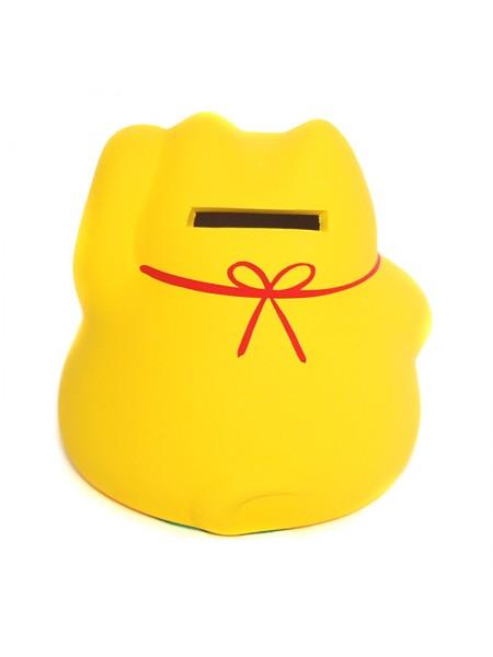 Maneki Neko giallo fortuna soldi