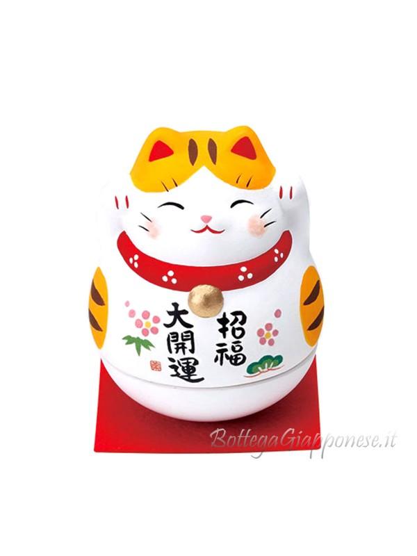 Maneki Neko che dondola tigrato