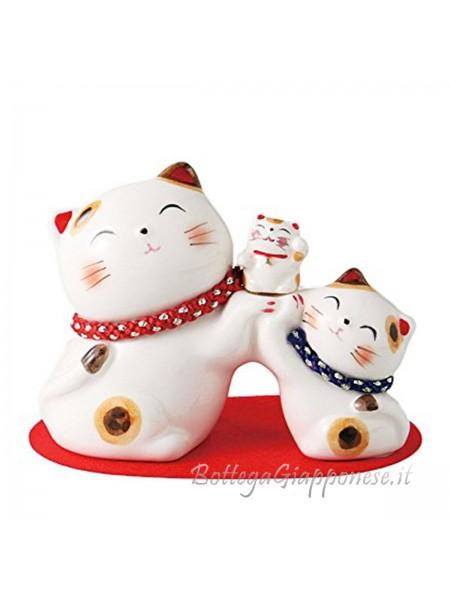 Maneki neko gatto salvadanaio famiglia