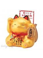 Maneki Neko grande vincita gatto dorato