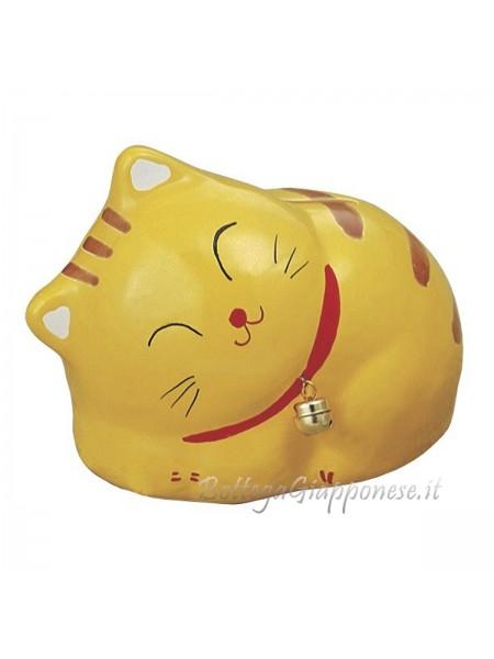 Maneki Neko salvadanaio gatto tigrato