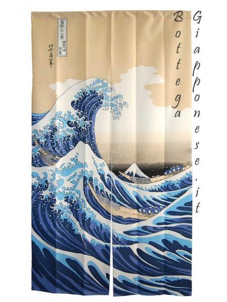 Noren Grande onda ukiyo-e tenda giapponese