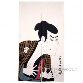 Noren attore kabuki ukiyo-e tenda giapponese