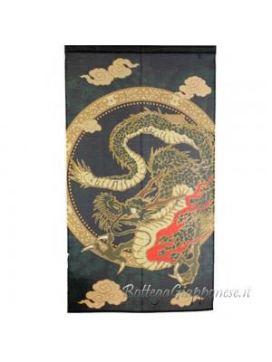 Noren drago che nuota nell'aria tenda giapponese