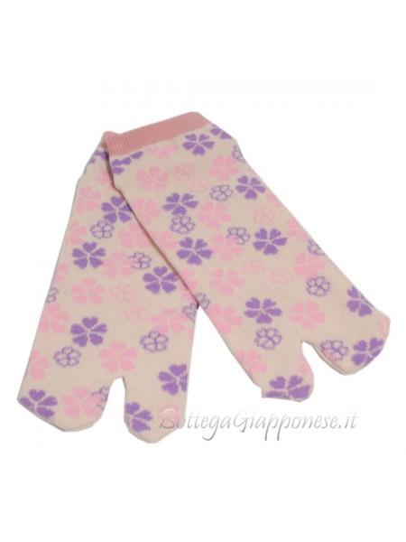 Tabi calze infradito sakura (tag.M) corto