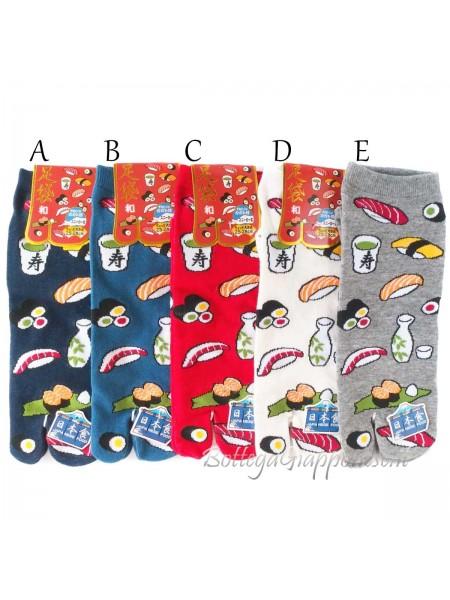 Tabi calze infradito disegno sushi (tag.L)