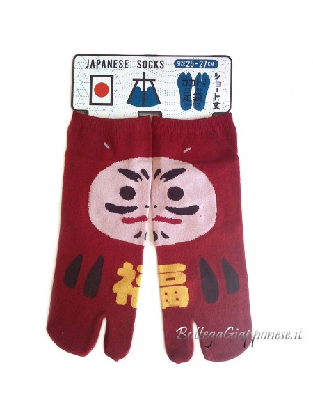 Tabi calze infradito daruma (tag.L) rosso