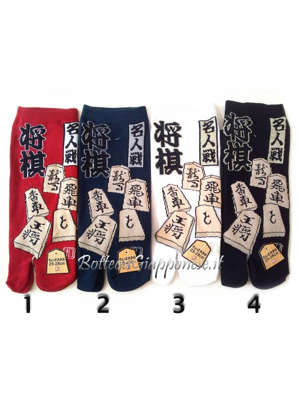 Tabi calze infradito disegno shogi (tag.L)