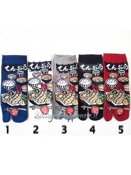 Tabi calze infradito disegno tempura (tag.L)