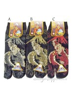 Tabi calze infradito disegno ryu e Fuji (tag.L) tre colori