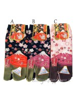 Tabi calze infradito disegno fuji sakura (tag.M) tre colori
