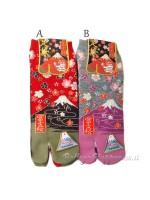 Tabi calze infradito disegno fuji sakura (tag.M)