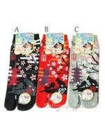 Tabi calze infradito disegno gatti sakura (tag.M)