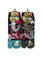 Tabi calze infradito disegno Koi e Fuji (tag.L) due colori