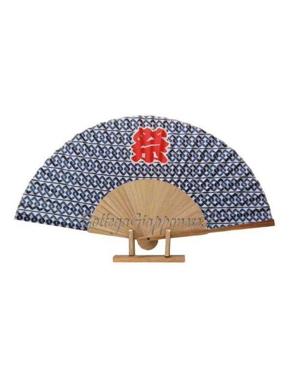 Sensu ventaglio Matsuri blu