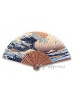 Sensu in seta ventaglio onda giapponese