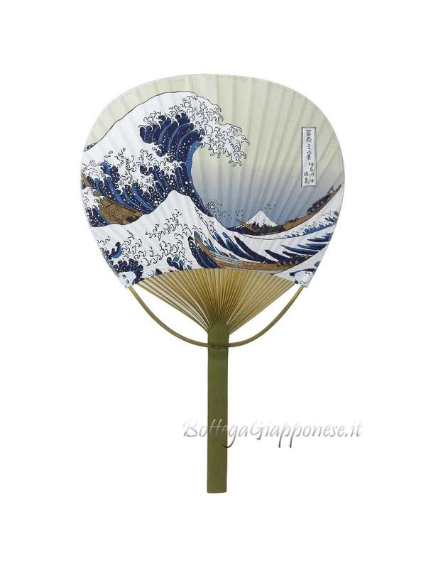 Uchiwa ventaglio aperto Hokusai