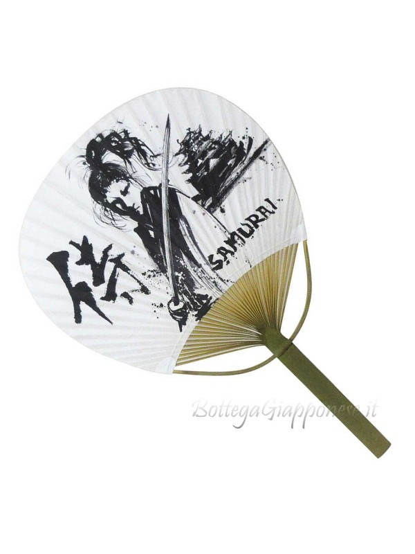 Uchiwa ventaglio aperto Samurai