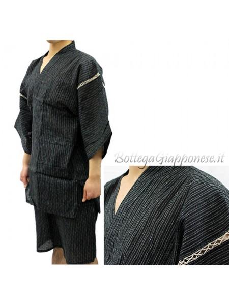 Jinbei completo giacca e pantaloncino nero