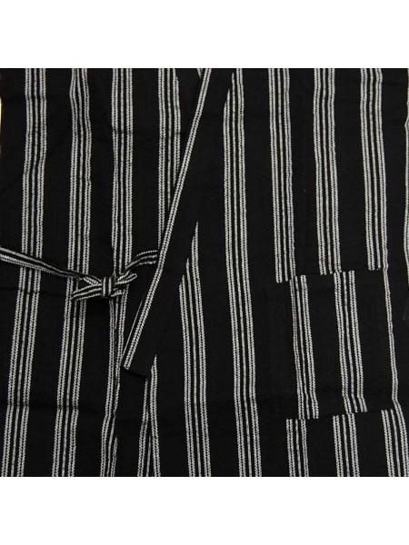 Jinbei giacca e pantalone corto nero e linee (tag. L)