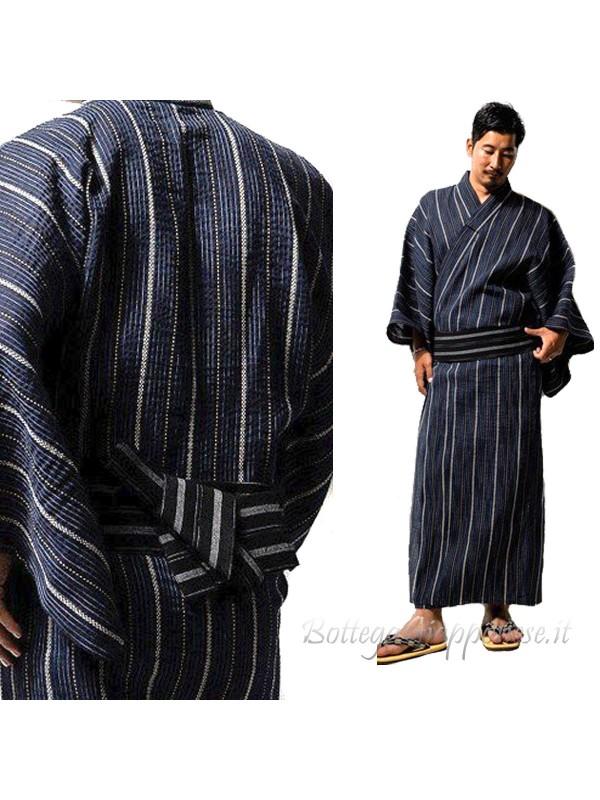 Yukata uomo blue con obi inclusa