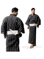 Yukata uomo nero con obi inclusa
