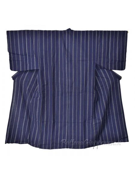 Yukata uomo blu con obi e sandali geta set