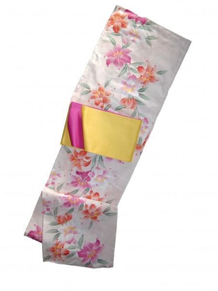 Yukata Harumi abito giapponese set obi inclusa