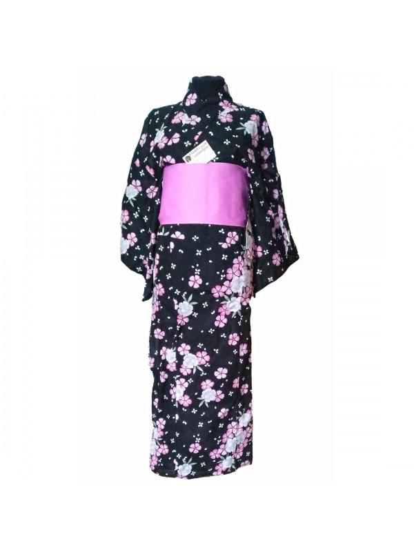 Yukata Aki abito giapponese completo Obi