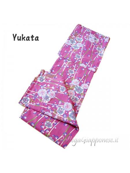 Yukata rosa decorazione sakura