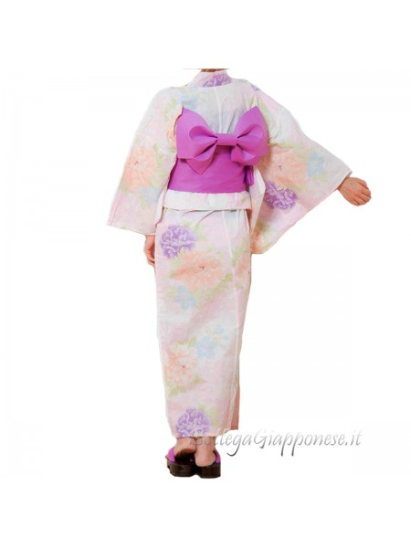 Yukata set completo di Cintura e Sandali [pink]