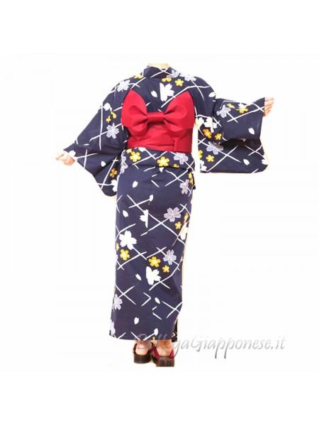 Yukata set completo di Cintura e Sandali [Yume]